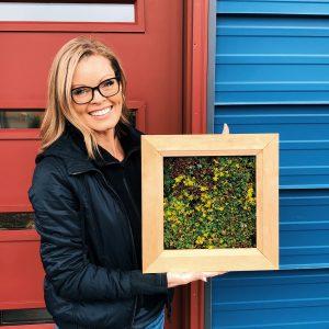 Eco Square ~ Cedar Succulent Frame